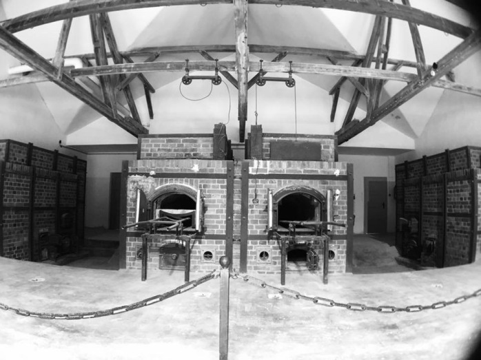 Inside of the crematorium- it was said that they could place upwards of 20 dead bodies inside these at a time.