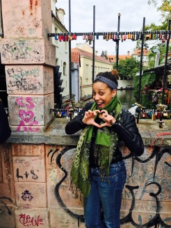 Sending love from the love lock bridge