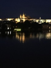 Night view of Prague Castle
